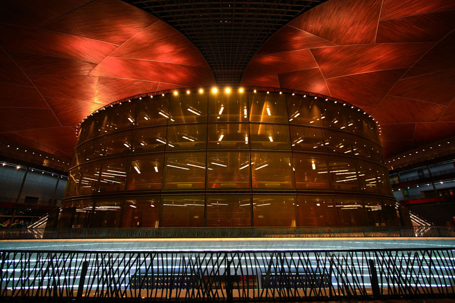 Chinese National Grand Theater, Beijing, Paul Andreu, GKD Metal Fabric Xinghai Stainless Steel Mesh Baltic