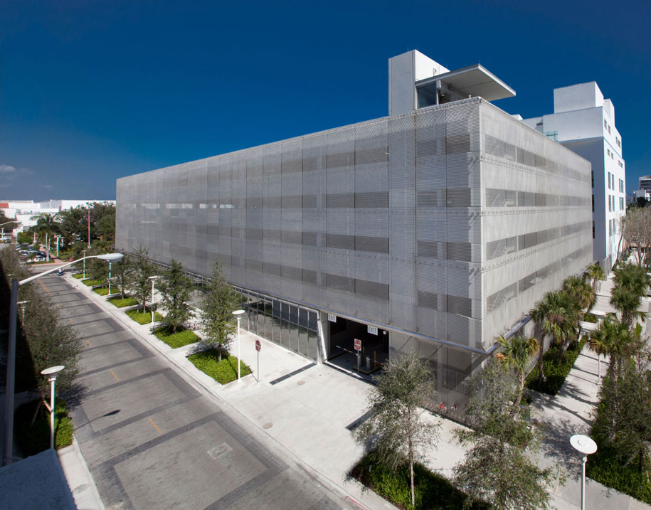 New World Symphony Parking Garage, Miami Beach, Florida, Gehry Partners, Helix 12, GKD Metal Fabrics USA
